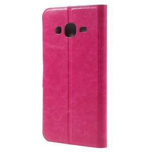 Horse PU kožené penženkové pouzdro na Samsung Galaxy J3 (2016) - rose - 2