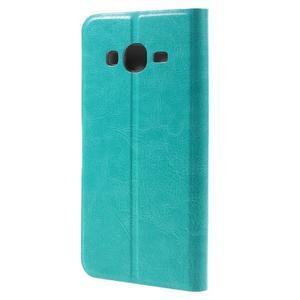Horse PU kožené penženkové pouzdro na Samsung Galaxy J3 (2016) - modré - 2