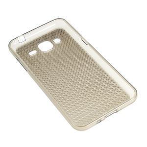 Diamond gelový obal na mobil Samsung Galaxy J3 (2016) - šedý - 2