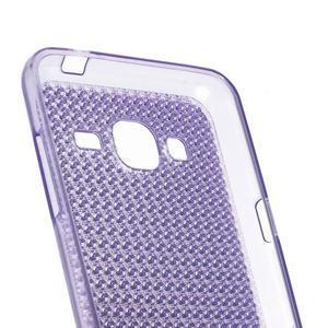 Diamond gelový obal na mobil Samsung Galaxy J3 (2016) - fialový - 2