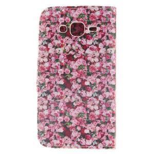 Standy peněženkové pouzdro na Samsung Galaxy J5 - růže - 2