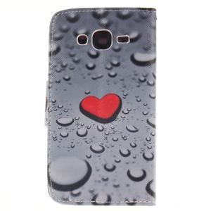 Standy peněženkové pouzdro na Samsung Galaxy J5 - srdce - 2