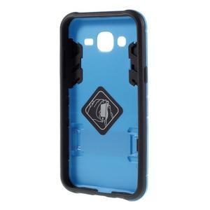 Odolný kryt 2v1 se stojánkem na Samsung Galaxy J5 - modrý - 2