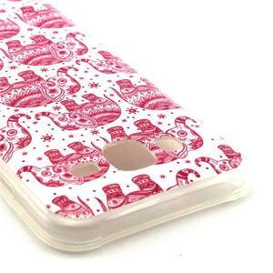 Imda gelový obal na mobil Samsung Galaxy J5 - růžoví sloni - 2