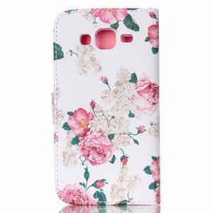Pictu peněženkové pouzdro na Samsung Galaxy J5 - květiny - 2