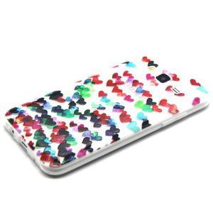 Trasnparent gelový obal na Samsung Galaxy J5 - srdíčka - 2