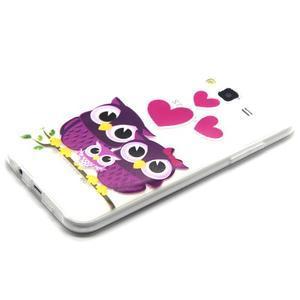 Trasnparent gelový obal na Samsung Galaxy J5 - soví rodinka - 2