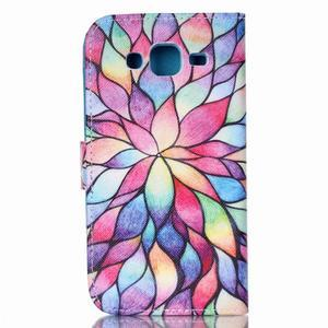 Pictu peněženkové pouzdro na Samsung Galaxy J5 - barevné lístky - 2