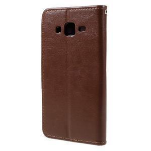 Peněženkové pouzdro na mobil Samsung Galaxy J5 - hnědé - 2
