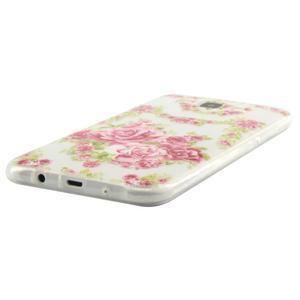 Ultratenký slim gelový obal na Samsung Galaxy J5 - květiny - 2