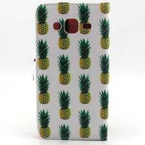 Knížkové pouzdro na mobil Samsung Galaxy J5 - ananasy - 2