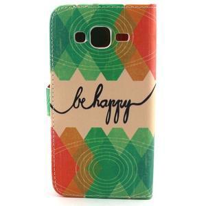 Knížkové pouzdro na mobil Samsung Galaxy J5 - be happy - 2
