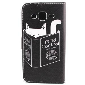 Knížkové pouzdro na mobil Samsung Galax J5 - kočka čte - 2