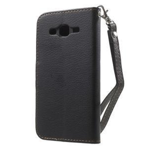 Leaf peněženkové pouzdro na Samsung Galaxy J5 - černé - 2