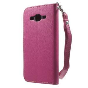 Leaf peněženkové pouzdro na Samsung Galaxy J5 - rose - 2