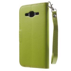 Leaf peněženkové pouzdro na Samsung Galaxy J5 - zelené - 2