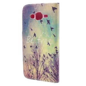 Dairy peněženkové pouzdro na Samsung Galaxy J5 - ptáčci - 2