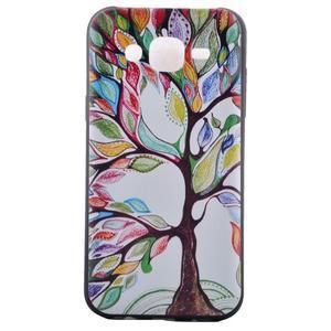 Jelly gelový obal na mobil Samsung Galaxy J5 - malovaný strom - 2