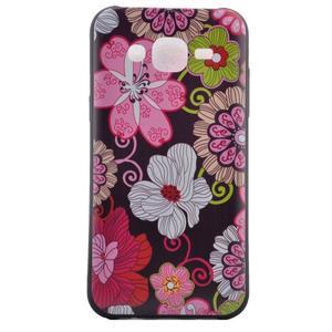 Jelly gelový obal na mobil Samsung Galaxy J5 - koláž květin - 2
