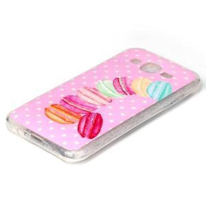 Softy gelový obal na mobil Samsung Galaxy J5 - makrónky - 2