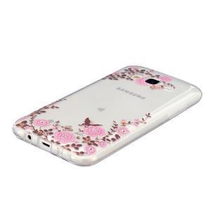 Trans gelový obal na mobil Samsung Galaxy J5 - květiny - 2