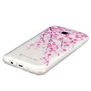 Trans gelový obal na mobil Samsung Galaxy J5 - kvetoucí třešeň - 2