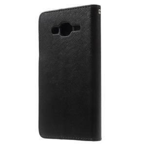 Crossy koženkové pouzdro na Samsung Galaxy J5 - černé - 2