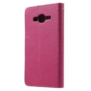 Crossy koženkové pouzdro na Samsung Galaxy J5 - rose - 2