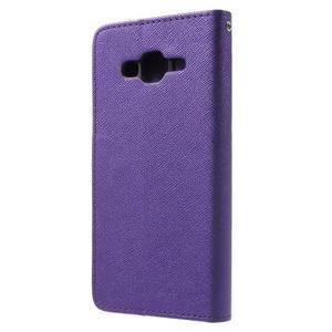 Crossy koženkové pouzdro na Samsung Galaxy J5 - fialové - 2