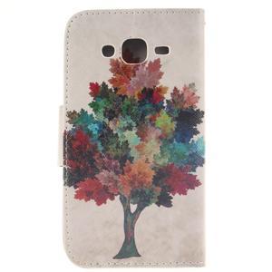 Standy peněženkové pouzdro na Samsung Galaxy J5 - barevný strom - 2