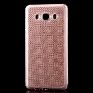 Diamonds gelový obal mobil na Samsung Galaxy J5 (2016) - růžový - 2