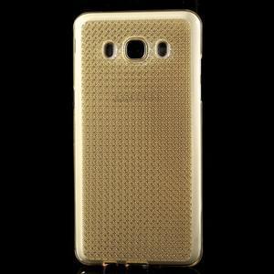 Diamonds gelový obal mobil na Samsung Galaxy J5 (2016) - zlatý - 2