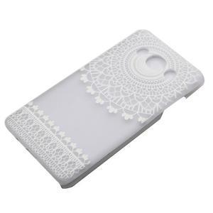 Transparentní plastový obal na Samsung Galaxy J5 (2016) - krajky - 2