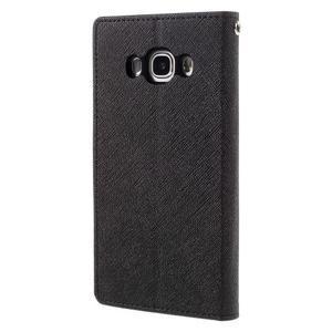 Diary PU kožené pouzdro na mobil Samsung Galaxy J5 (2016) - černé - 2