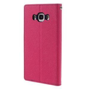 Diary PU kožené pouzdro na mobil Samsung Galaxy J5 (2016) - rose - 2