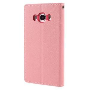 Diary PU kožené pouzdro na mobil Samsung Galaxy J5 (2016) - růžové - 2