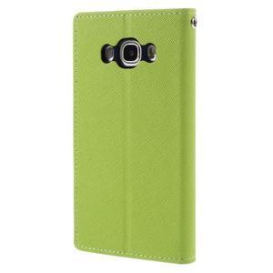 Diary PU kožené pouzdro na mobil Samsung Galaxy J5 (2016) - zelené - 2