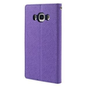 Diary PU kožené pouzdro na mobil Samsung Galaxy J5 (2016) - fialové - 2