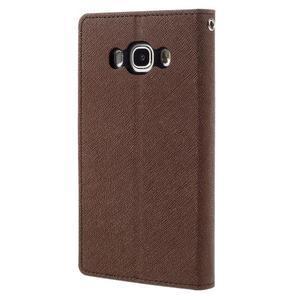 Diary PU kožené pouzdro na mobil Samsung Galaxy J5 (2016) - hnědé - 2