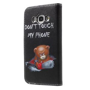 Nice peněženkové pouzdro pro Samsung Galaxy J5 (2016) - zlej méďa - 2
