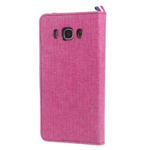 Denim peněženkové pouzdro na Samsung Galaxy J5 (2016) - rose - 2