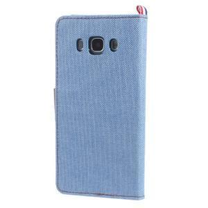 Denim peněženkové pouzdro na Samsung Galaxy J5 (2016) - světlemodré - 2