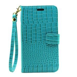 Croco peněženkové pouzdro na Samsung Galaxy J5 (2016) - modré - 2
