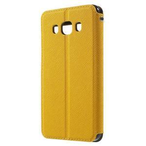 Knížkové pouzdro s okýnkem na Samsung Galaxy J5 (2016) - žluté - 2