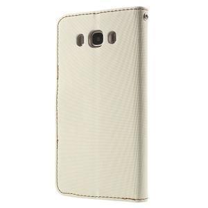 Gentle PU kožené peněženkové pouzdro na Samsung Galaxy J5 (2016) - bílé - 2