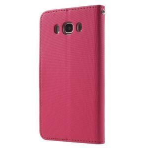 Gentle PU kožené peněženkové pouzdro na Samsung Galaxy J5 (2016) - rose - 2