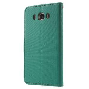 Gentle PU kožené peněženkové pouzdro na Samsung Galaxy J5 (2016) - zelenomodré - 2