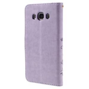 Butterfly PU kožené pouzdro na mobil Samsung Galaxy J5 (2016) - fialové - 2