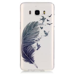 Průhledný obal na mobil Samsung Galaxy J5 (2016) - peříčko - 2