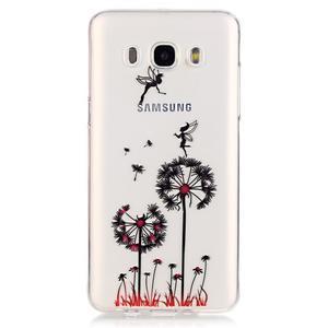 Průhledný obal na mobil Samsung Galaxy J5 (2016) - pampelišky - 2